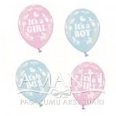 Baloni ar apdruku jaundzimušajiem