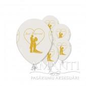 """Baloni ar apdruku kāzām """"JAUNLAULĀTIE"""""""
