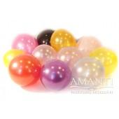 Baloni ar metāla / perlamutra spīdumu. Diametrs - 12 cm.